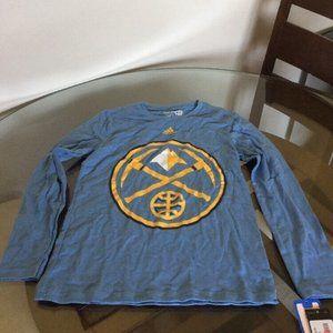 NWT Denver Nuggets Long Sleeve Adidas Shirt Youth